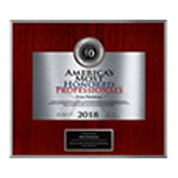 America's Most Honored Professionals Plaque