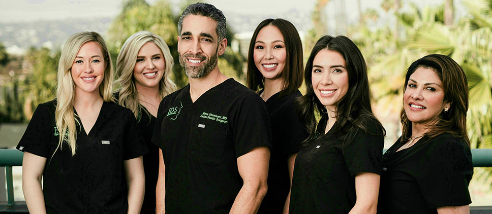Dr. Nima with Staff